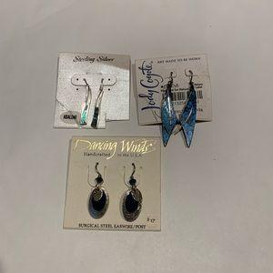 Set of 3 Vintage Earrings
